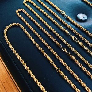 Real 18kt Gold Filled Rope Chain